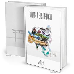XXL Kontinent ASIEN Reisetagebuch (Hardcover A4, Blankoseiten)
