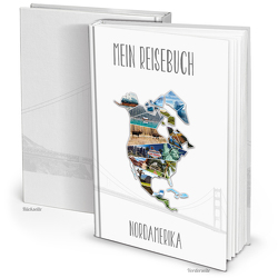 XXL Kontinent NORD-AMERIKA Reisetagebuch (Hardcover A4, Blankoseiten)