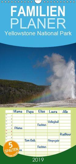 Yellowstone National Park – Familienplaner hoch (Wandkalender 2019 , 21 cm x 45 cm, hoch) von Kaiser,  Ralf