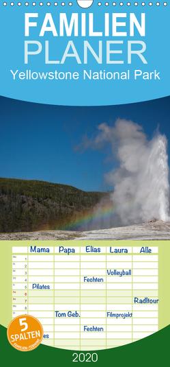 Yellowstone National Park – Familienplaner hoch (Wandkalender 2020 , 21 cm x 45 cm, hoch) von Kaiser,  Ralf