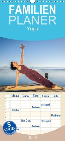Yoga – Familienplaner hoch (Wandkalender 2019 , 21 cm x 45 cm, hoch) von Gann (magann),  Markus