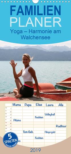 Yoga – Harmonie am Walchensee – Familienplaner hoch (Wandkalender 2019 , 21 cm x 45 cm, hoch) von Thiel,  Isabella