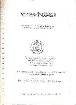 Yoga Mimamsa von Tomalla,  Lore, Zeifang,  Hannelore