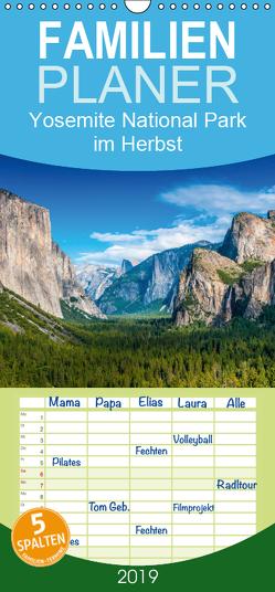 Yosemite National Park im Herbst – Familienplaner hoch (Wandkalender 2019 , 21 cm x 45 cm, hoch) von Schepp,  Michael