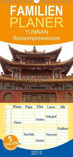 Yunnan – Reiseimpressionen – Familienplaner hoch (Wandkalender 2019 , 21 cm x 45 cm, hoch) von Rusch,  Winfried