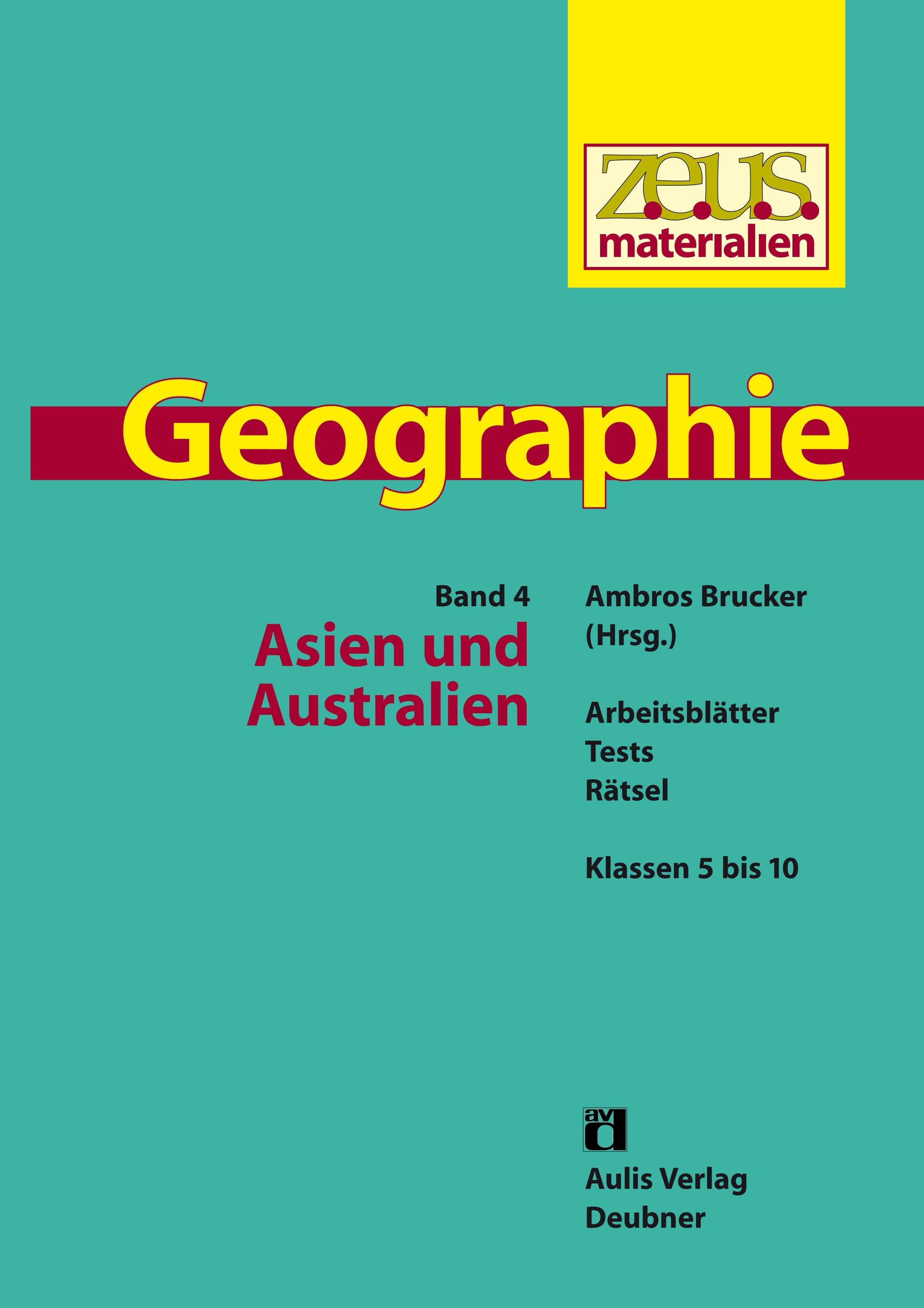 z.e.u.s. - Materialien Geographie / Asien und Australien. Arbeitsblät