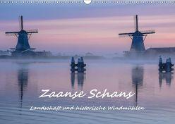 Zaanse Schans – Landschaft und historische Windmühlen (Wandkalender 2018 DIN A3 quer) von Hackstein,  Bettina