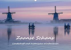Zaanse Schans – Landschaft und historische Windmühlen (Wandkalender 2021 DIN A2 quer) von Hackstein,  Bettina