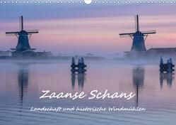 Zaanse Schans – Landschaft und historische Windmühlen (Wandkalender 2021 DIN A3 quer) von Hackstein,  Bettina