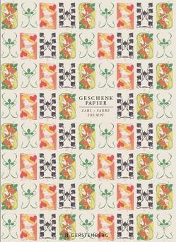 Zahl Farbe Trumpf Geschenkpapier-Heft – Motiv Herzdame & Pikkönig von Schöll,  Stephan
