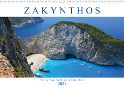 Zakynthos 2021 (Wandkalender 2021 DIN A3 quer) von Schnittert,  Bettina