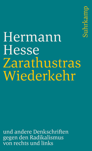 Zarathustras Wiederkehr von Hesse,  Hermann, Michels,  Volker