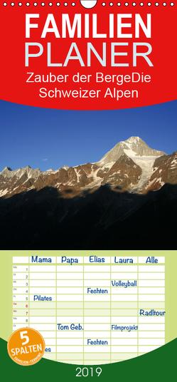 Zauber der Berge. Die Schweizer Alpen – Familienplaner hoch (Wandkalender 2019 , 21 cm x 45 cm, hoch) von Franz Müller Fotografie,  Günter