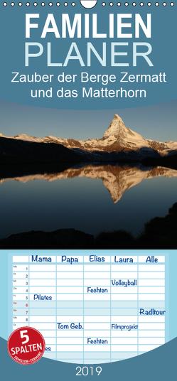 Zauber der Berge Zermatt und das Matterhorn – Familienplaner hoch (Wandkalender 2019 , 21 cm x 45 cm, hoch) von Franz Müller Fotografie,  Günter