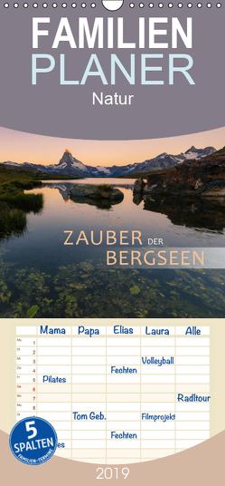 Zauber der Bergseen – Familienplaner hoch (Wandkalender 2019 , 21 cm x 45 cm, hoch) von Dreher,  Christiane