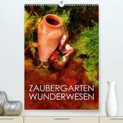 ZAUBERGARTEN WUNDERWESEN (Premium, hochwertiger DIN A2 Wandkalender 2021, Kunstdruck in Hochglanz) von Allgaier (ullision),  Ulrich