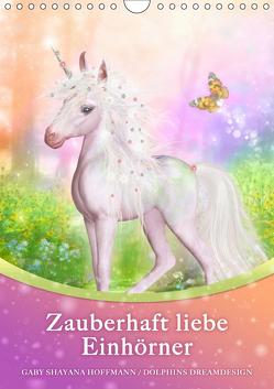Zauberhaft liebe Einhörner – Kalender (Wandkalender 2019 DIN A4 hoch) von Shayana Hoffmann,  Gaby