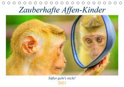 Zauberhafte Affenkinder. Süßer geht´s nicht! (Tischkalender 2021 DIN A5 quer) von Hurley,  Rose