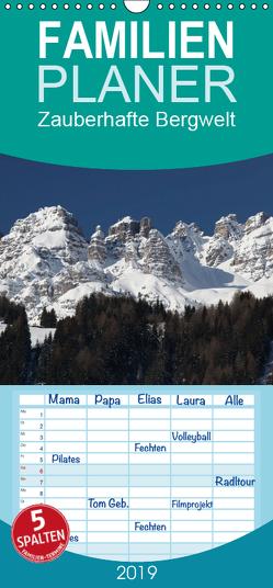 Zauberhafte Bergwelt – Familienplaner hoch (Wandkalender 2019 , 21 cm x 45 cm, hoch) von Deter,  Thomas