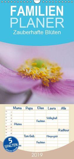 Zauberhafte Blüten – Familienplaner hoch (Wandkalender 2019 , 21 cm x 45 cm, hoch) von Buch,  Monika