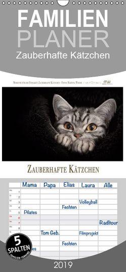Zauberhafte Kätzchen – Familienplaner hoch (Wandkalender 2019 , 21 cm x 45 cm, hoch) von Wrede,  Martina