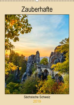 Zauberhafte Sächsische Schweiz (Wandkalender 2019 DIN A2 hoch) von Webeler,  Janita