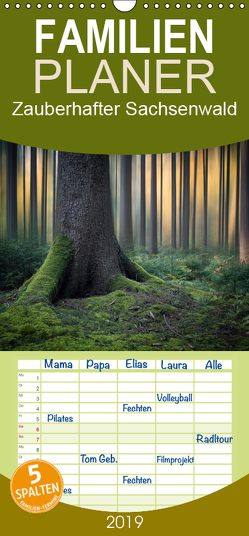 Zauberhafter Sachsenwald – Familienplaner hoch (Wandkalender 2019 , 21 cm x 45 cm, hoch) von Meyerdierks,  Carsten