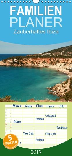 Zauberhaftes Ibiza – Familienplaner hoch (Wandkalender 2019 , 21 cm x 45 cm, hoch) von Lindert-Rottke,  Antje