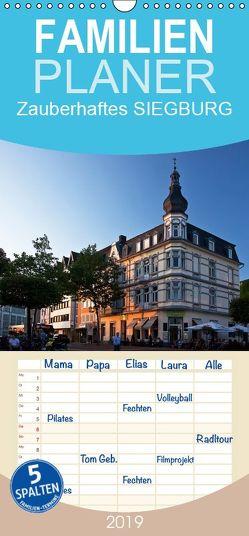 Zauberhaftes SIEGBURG – Familienplaner hoch (Wandkalender 2019 , 21 cm x 45 cm, hoch) von boeTtchEr,  U