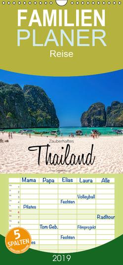 Zauberhaftes Thailand – Familienplaner hoch (Wandkalender 2019 , 21 cm x 45 cm, hoch) von Becker,  Stefan