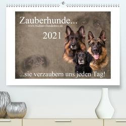 Zauberhunde… sie verzaubern uns jeden Tag! (Premium, hochwertiger DIN A2 Wandkalender 2021, Kunstdruck in Hochglanz) von Hofer-Ott,  Nadine