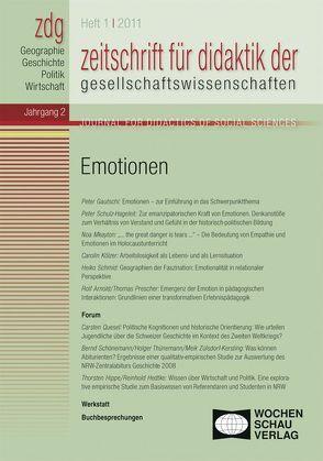 ZDG 1/2011, Emotionen von Gautschi,  Peter, Sander,  Wolfgang, Thode-Jüchtern,  Tilman, Weber,  Birgit