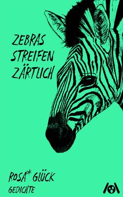 zebras streichen zärtlich von Mariele,  Krämer, rosa*,  glück