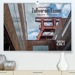 Zeche und Kokerei Zollverein Essen: Industrie-Architektur (Premium, hochwertiger DIN A2 Wandkalender 2021, Kunstdruck in Hochglanz) von Herm,  Olaf