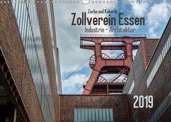 Zeche und Kokerei Zollverein Essen: Industrie-Architektur (Wandkalender 2019 DIN A3 quer) von Herm,  Olaf