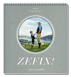 Zefix! Wandkalender 2019 von Bolle,  Martin, Keller,  Markus C, Mothwurf,  Ono