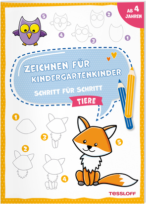 Zeichnen für Kindergartenkinder. Schritt für Schritt. Tiere von Schwendemann,  Nadja