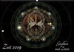 Zeit 2019 – Grafiken und Zitate (Wandkalender 2019 DIN A2 quer) von Schmitt,  Georg