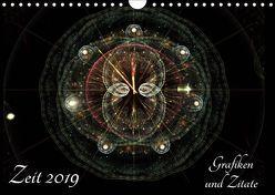 Zeit 2019 – Grafiken und Zitate (Wandkalender 2019 DIN A4 quer) von Schmitt,  Georg