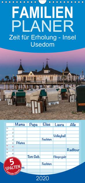 Zeit für Erholung – Insel Usedom / Geburtstagskalender – Familienplaner hoch (Wandkalender 2020 , 21 cm x 45 cm, hoch) von Kirsch,  Gunter