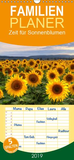 Zeit für Sonnenblumen – Familienplaner hoch (Wandkalender 2019 , 21 cm x 45 cm, hoch) von Gierok,  Steffen