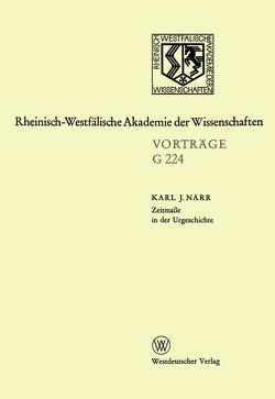 Zeitmaße in der Urgeschichte von Narr,  Karl J