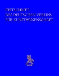 Zeitschrift des Deutschen Vereins für Kunstwissenschaft