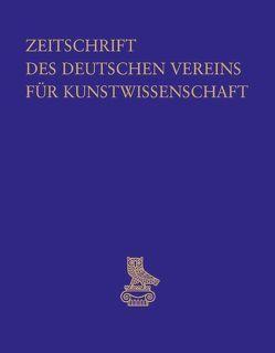 Zeitschrift des Deutschen Vereins für Kunstwissenschaft von Deutscher Verein f. Kunstwissenschaft