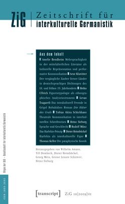 Zeitschrift für interkulturelle Germanistik von Amann,  Wilhelm, Dembeck,  Till, Heimböckel,  Dieter, Mein,  Georg, Schiewer,  Gesine Lenore, Sieburg,  Heinz