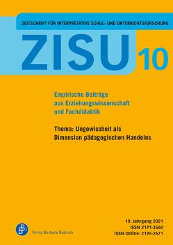 ZISU – Zeitschrift für interpretative Schul- und Unterrichtsforschung von Idel,  Till-Sebastian, Kramer,  Rolf-Torsten, Schierz,  Matthias