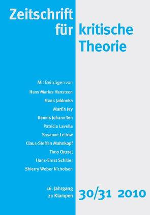 Zeitschrift für kritische Theorie von Bock,  Wolfgang, Krämer,  Sven, Schweppenhäuser,  Gehard