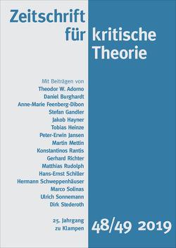 Zeitschrift für kritische Theorie von Krämer,  Sven, Schweppenhäuser,  Gerhard