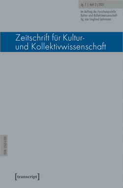 Zeitschrift für Kultur- und Kollektivwissenschaft von Gehrmann,  Siegfried