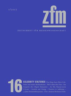 Zeitschrift für Medienwissenschaft 16 von Gesellschaft für Medienwissenschaft